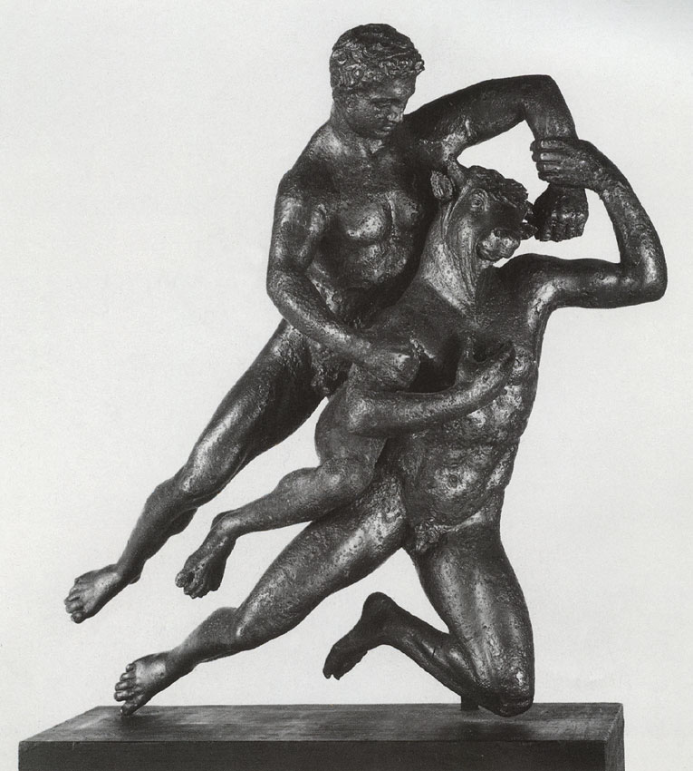 Theseus and Minotaur. Bronze. Ca. 30 BCE.  Berlin, State Museums