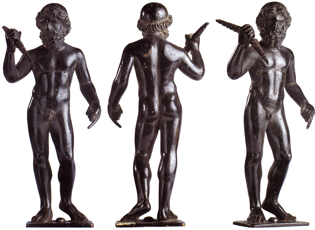 Statuette of Zeus. Bronze, smooth patina, dark brown, solid cast. Imperial period.  Inv. No. Б. 290 (St. 611). Saint Petersburg, The State Hermitage Museum