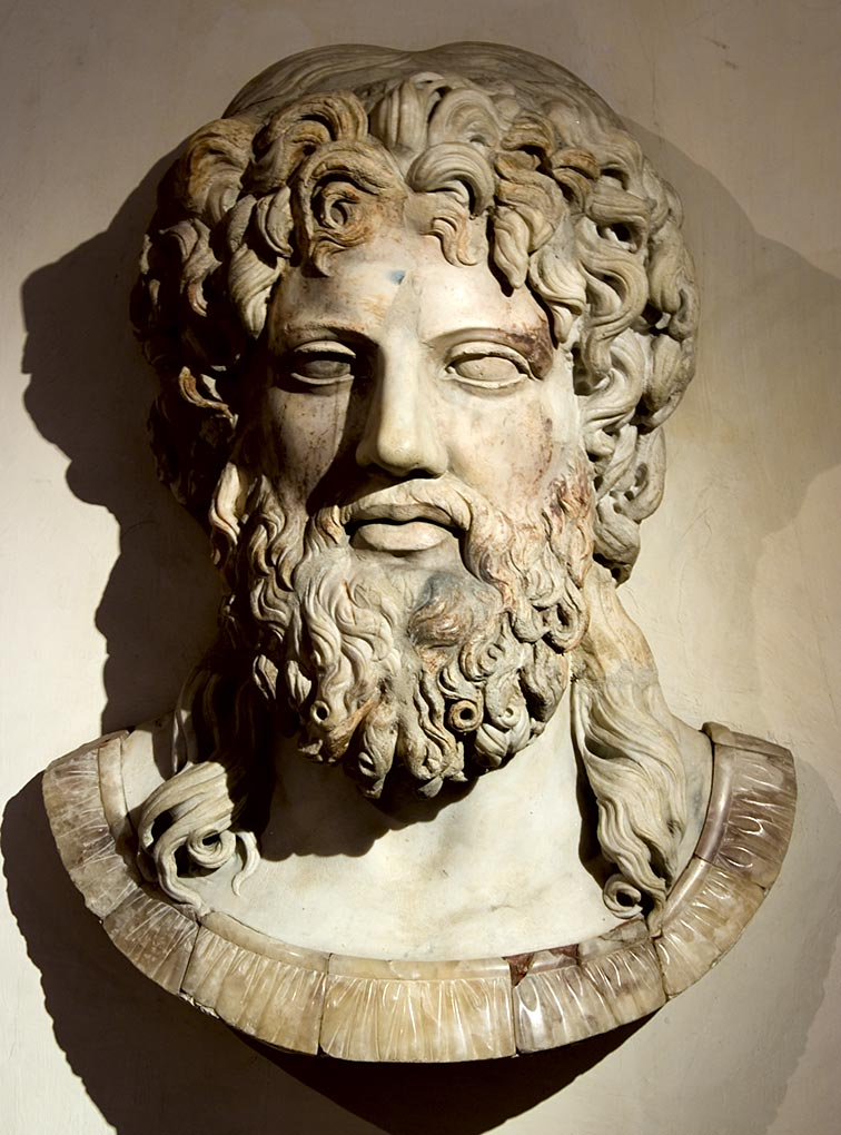 Zeus. Marble. Roman copy of the first half of 2nd century CE after a Greek original of late 5th — early 4th century BCE. Inv. No. 8635. Rome, Roman National Museum, Palazzo Altemps