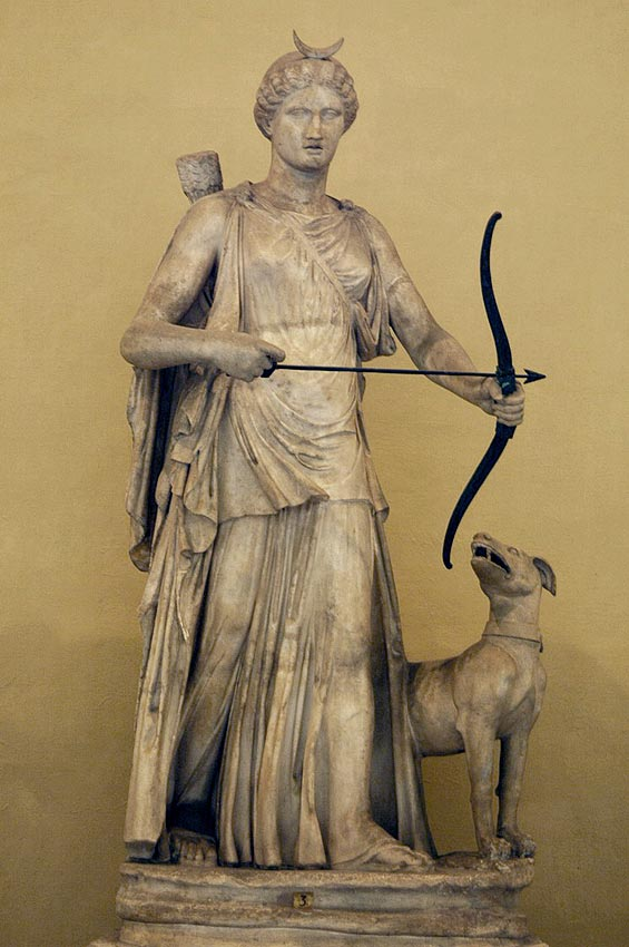 Diana. Marble. 2nd century. Inv. No. 1841. Rome, Vatican Museums, Chiaramonti Museum, XL. 3