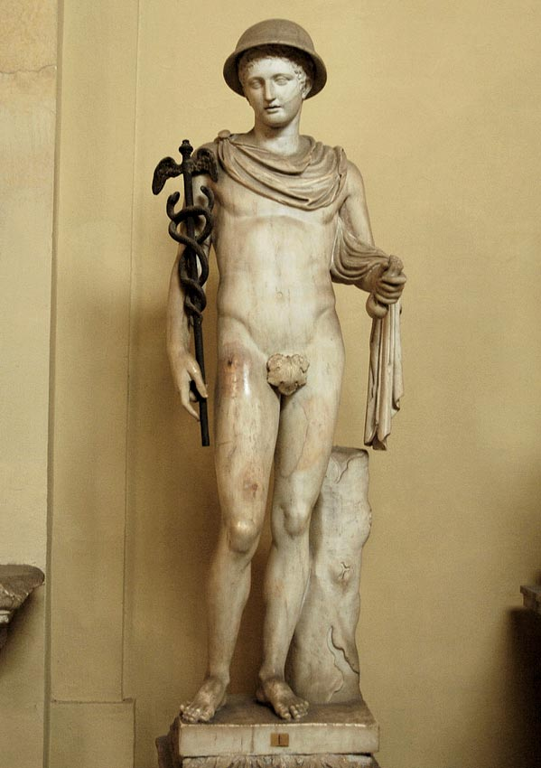 Mercury. Marble. 2nd century. Inv. No. 1373. Rome, Vatican Museums, Chiaramonti Museum, XIII. 1