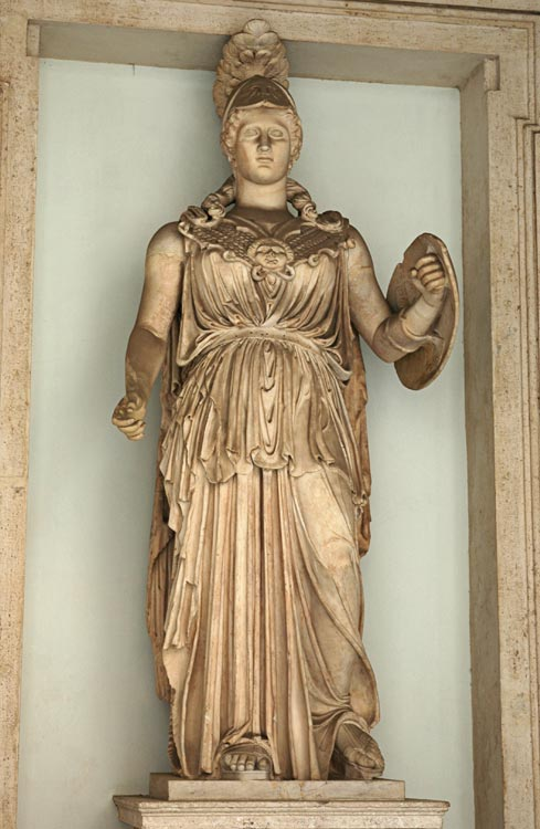 Minerva. Marble. 2nd century BCE. Inv. No. MC37. Rome, Capitoline Museums, Palazzo Nuovo, Lobby