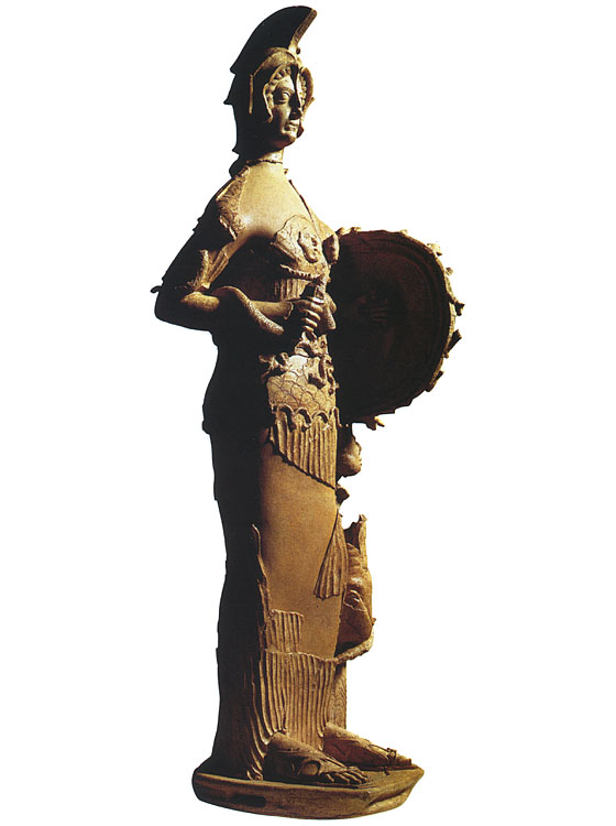 The big terracotta statue of Minerva Tritonia. 4th—3rd century BCE. Pratica di Mare, Depository of University
