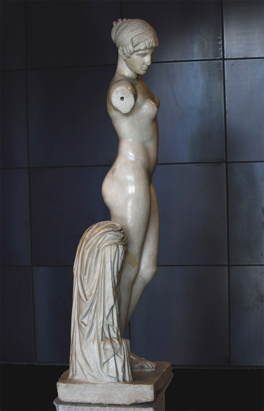 Esquiline Venus. Parian marble. Work of the early Roman Imperial age. Inv. No. 1141. Rome, Capitoline Museums, Palazzo dei Conservatori, Halls of the Horti Lamiani