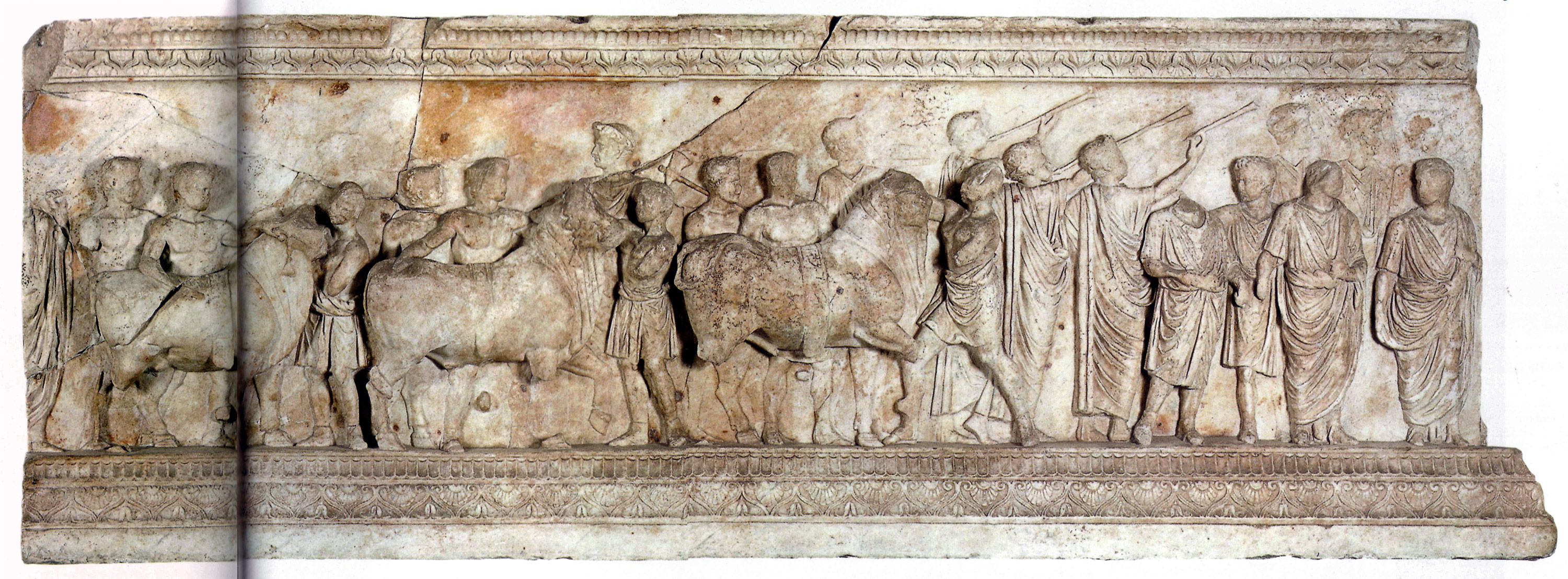 Altar or Base of the Vicomagistri. Marble. The age of Tiberius. Rome, Vatican Museums, Gregorian Profane Museum