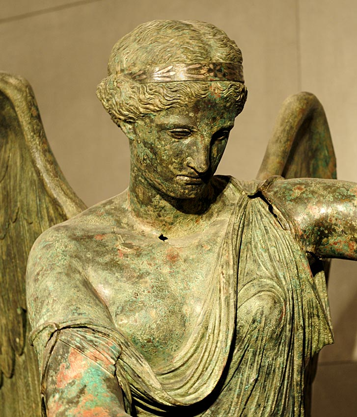 Winged Victory. Detail. Bronze. 1st century CE. Inv. No. MR 369. Brescia, Santa Giulia Civic Museum