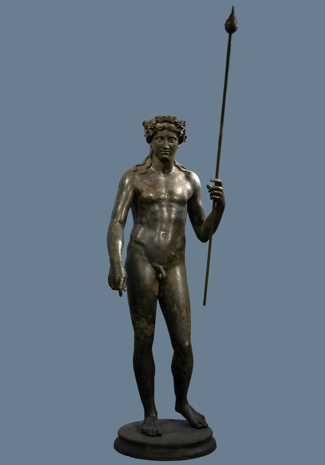 Dionysus. Bronze. 117—138 CE. Inv. No. 1060. Rome, Roman National Museum, Palazzo Massimo alle Terme