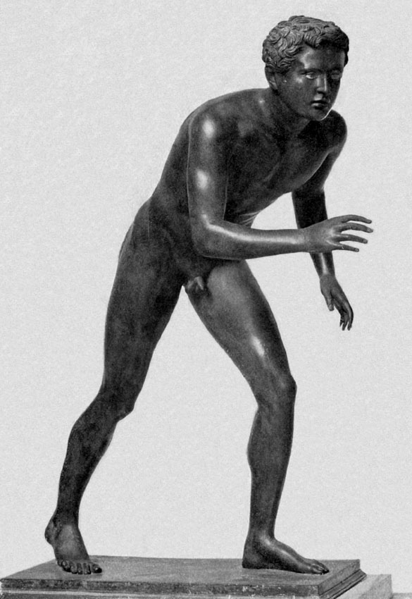 Statue of a wrestler. Bronze. Naples, National Archaeological Museum