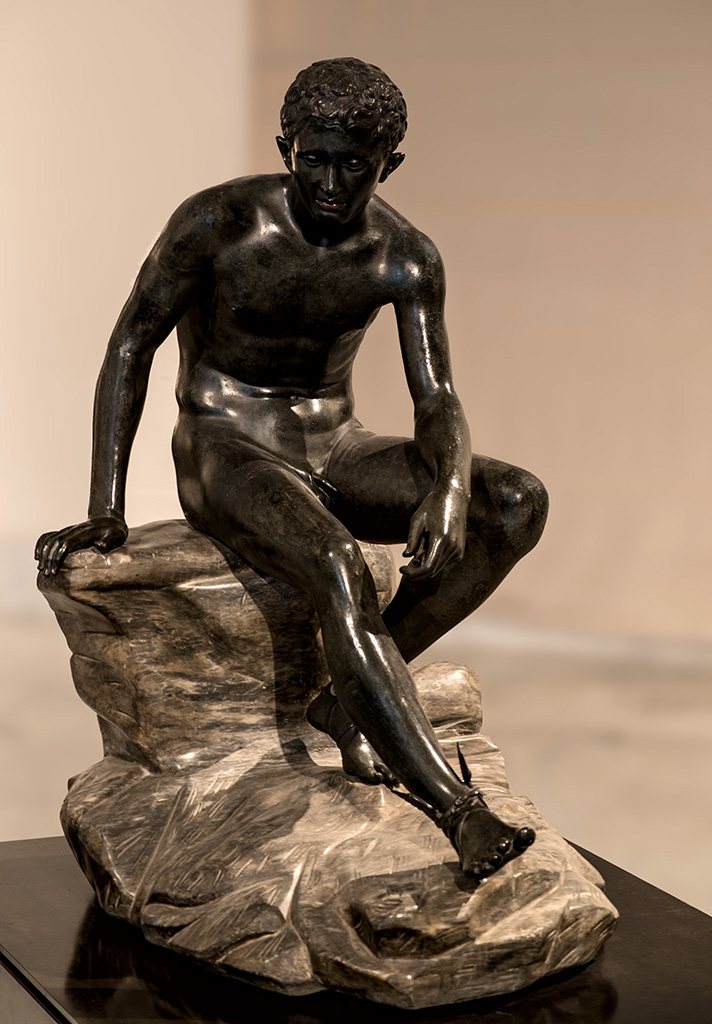 Sitting Hermes. Bronze. Naples, National Archaeological Museum