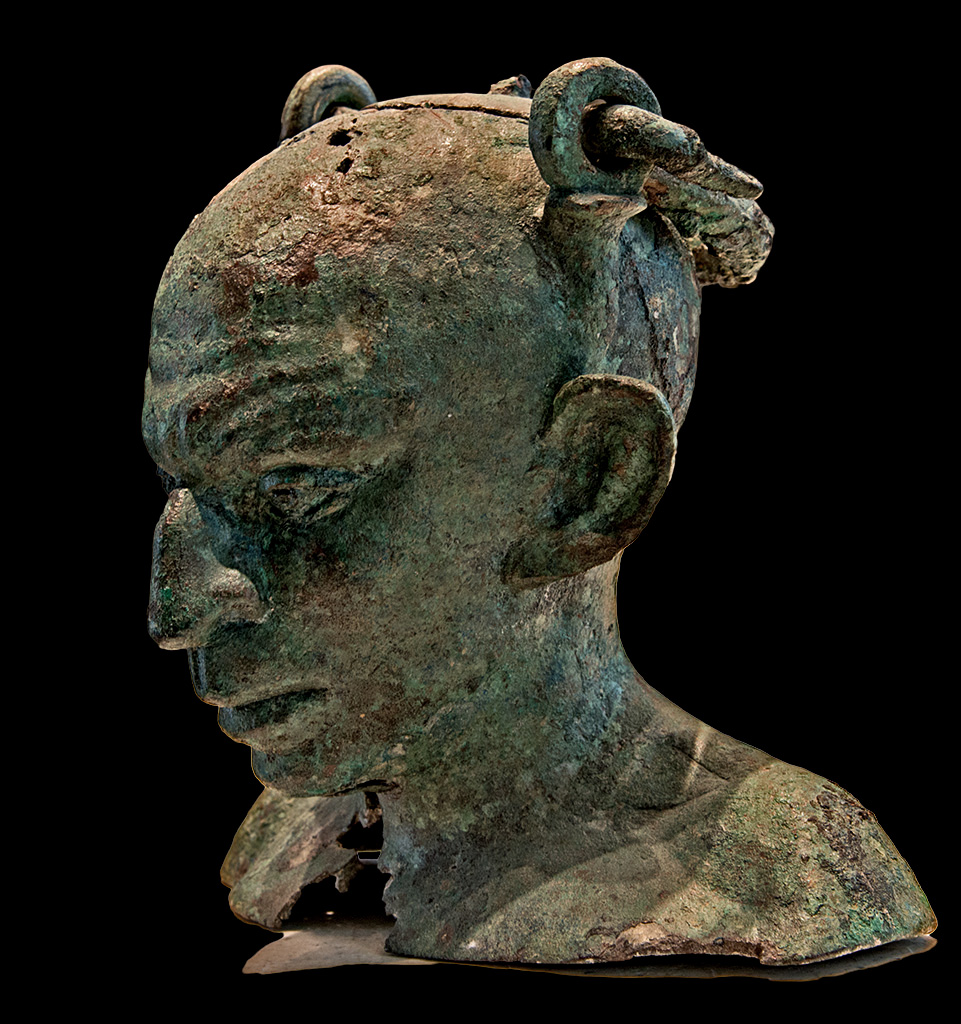 Bust of a Syrian (anthropomorphous vase). Bronze. 2nd-3rd cent. CE. Inv. No. Br 2947. Paris, Louvre Museum