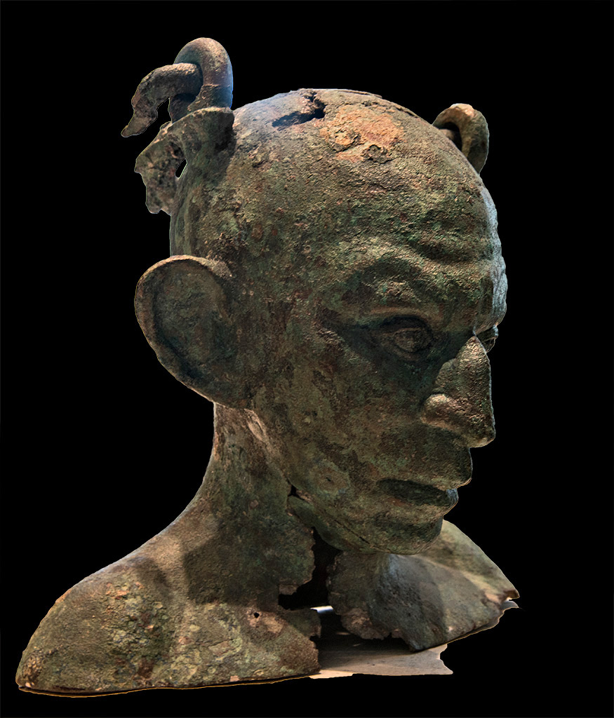 Bust of a Syrian (anthropomorphous vase). Bronze. 2nd—3rd cent. CE. Inv. No. Br 2947. Paris, Louvre Museum