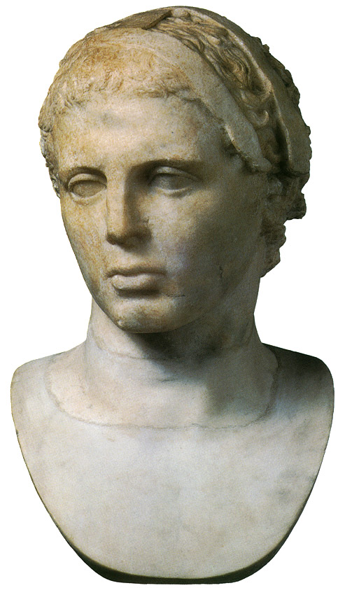 Head of an athlete. Greek marble. Roman copy after a Greek statue of 5th century BCE.  Inv. No. 188. Rome, Capitoline Museums, Museum Montemartini (Centrale Montemartini), II. 27