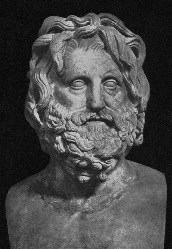 Head of Poseidon. Marble. Rome, Vatican Museums