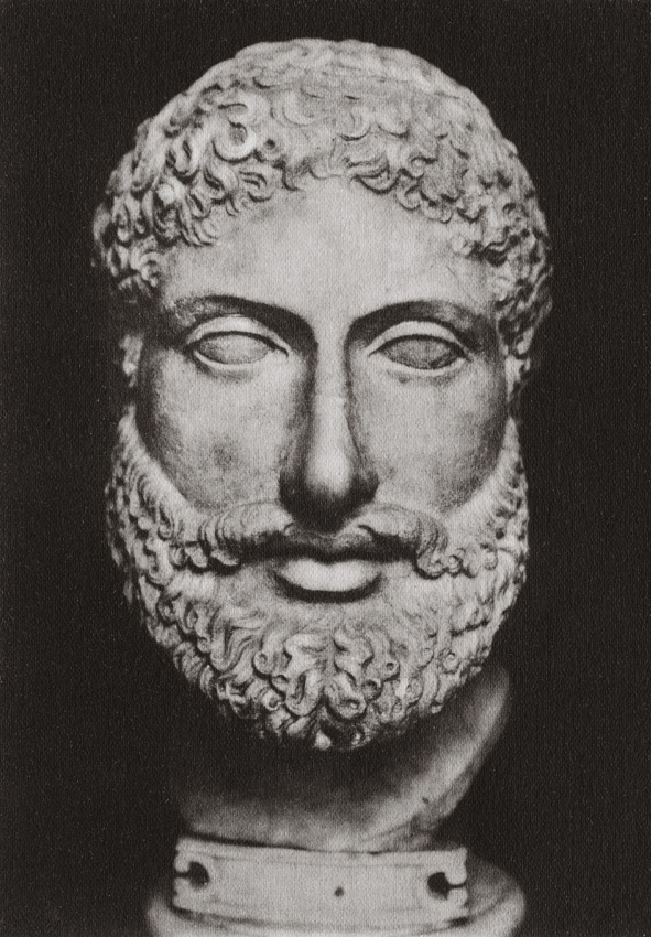 Portrait of a fighter. Marble. Saint Petersburg, The State Hermitage Museum