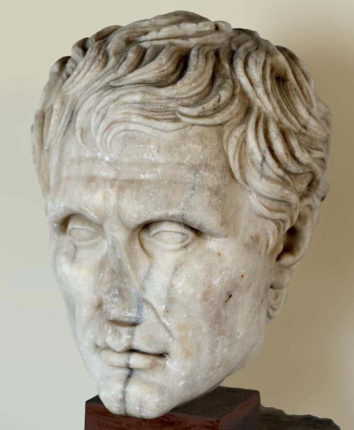 Menander. Marble. Mid-1st century CE. Verona, Archaeological Museum