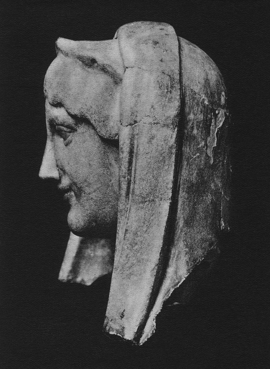Head of the statue of Isis before restoration. Marble. Saint Petersburg, The State Hermitage Museum