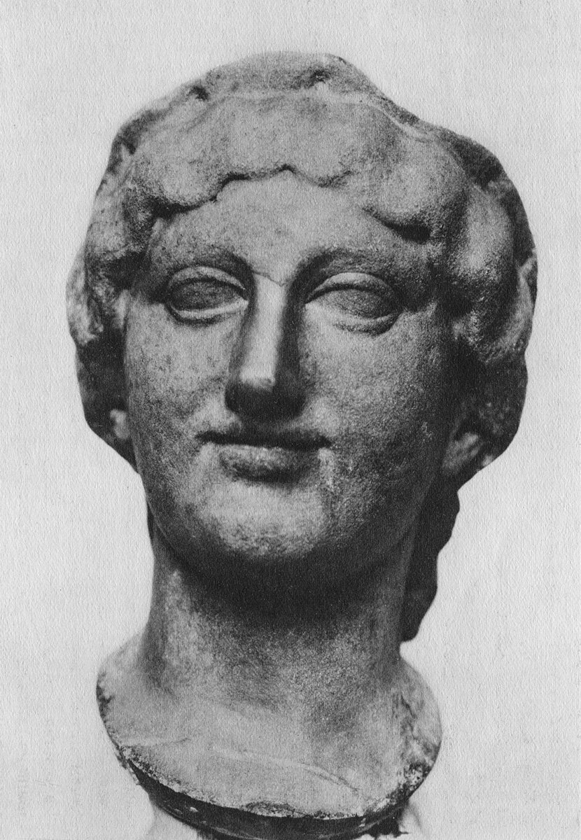 A female head. Marble. Roman copy after a Greek original of 480—475 BCE. Saint Petersburg, The State Hermitage Museum