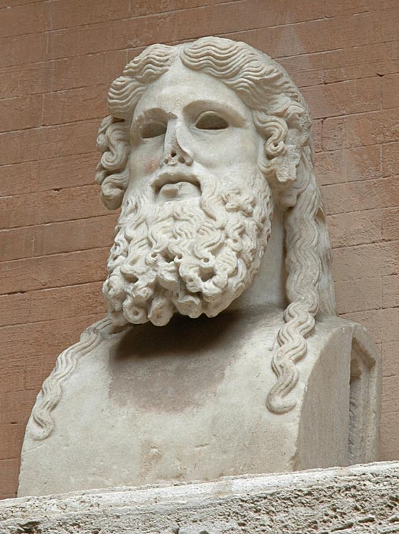 Herm of a bearded man. Marble. After a Greek original of the mid-5th century BCE. Inv. No. MC7. Rome, Capitoline Museums, Palazzo Nuovo, Courtyard