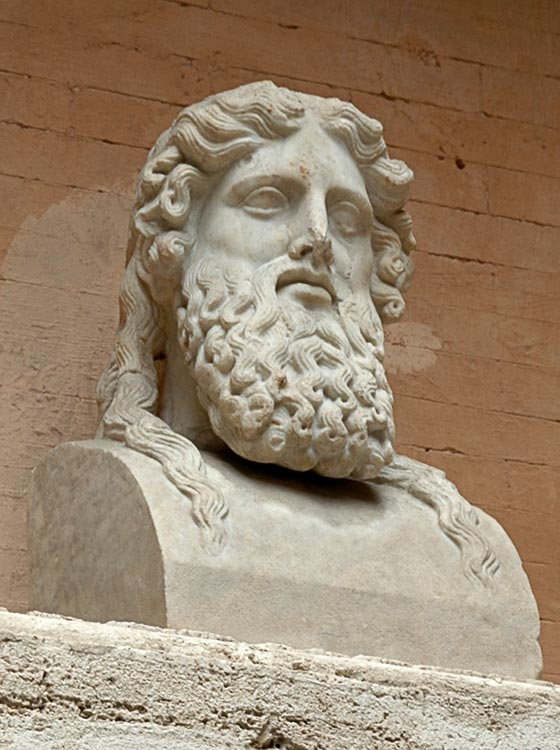 Herm of a bearded man. Marble. After a Greek original of the mid-5th century BCE. Inv. No. MC11. Rome, Capitoline Museums, Palazzo Nuovo, Courtyard