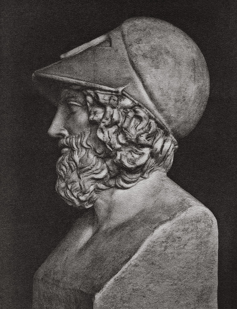 Portrait of a strategos. Marble. Paris, Louvre Museum