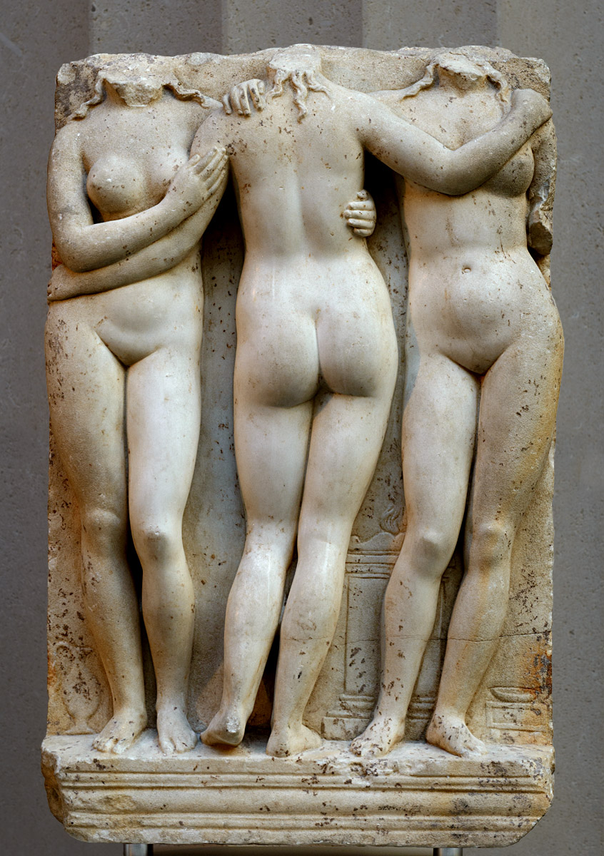 Marble relief of the Three Graces. Marble. 2nd century CE. Inv. No. L.2013.17. New York, the Metropolitan Museum of Art