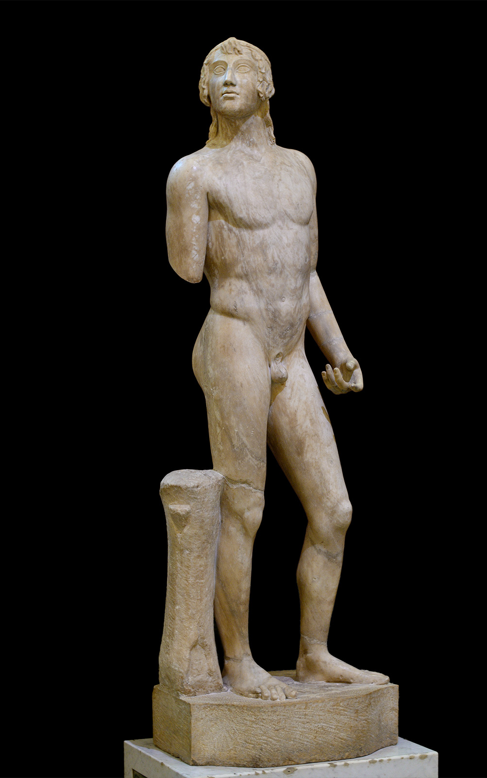 The Soranzo Eros. Marble. Roman copy of the 1st cent. CE after a Greek original of ca. 460 BCE, or original Roman work of Classic style of the 1st cent. CE. Inv. No. Гр-3095 / А.192. Saint Petersburg, The State Hermitage Museum