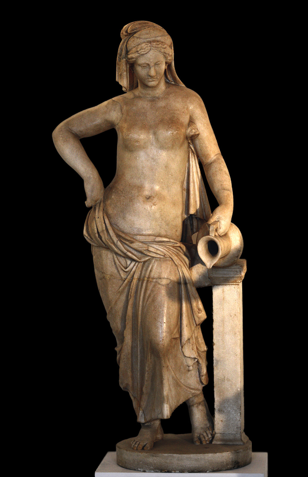 Aphrodite (Nymph). Greek marble. Hellenistic period.  Inv. No. 253. Venice, National Archaeological Museum