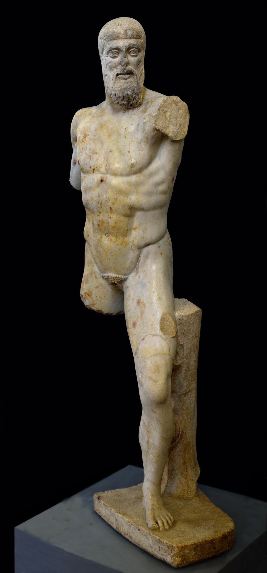 Aristogeiton (part of a statuary group of the Tyrannicides). Roman copy of the 1st century BCE after a Kritios and Nesiotes model of 477—476 BCE. Inv. No. MC 2404. Rome, Capitoline Museums, Museum Montemartini (Centrale Montemartini), II. 58
