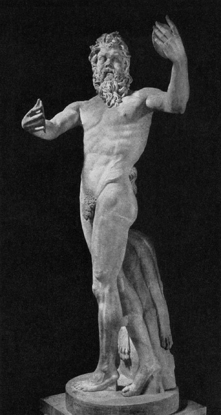 Dancing Silenus. Marble. Roman copy after a Greek original by Lysippos of the 4th century BCE (?).. Rome, Museum and Gallery of Villa Borghese