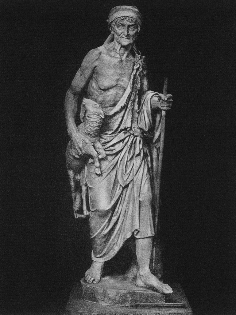 Statue of an old herdswoman. Marble. Rome, Capitoline Museums, Palazzo dei Conservatori