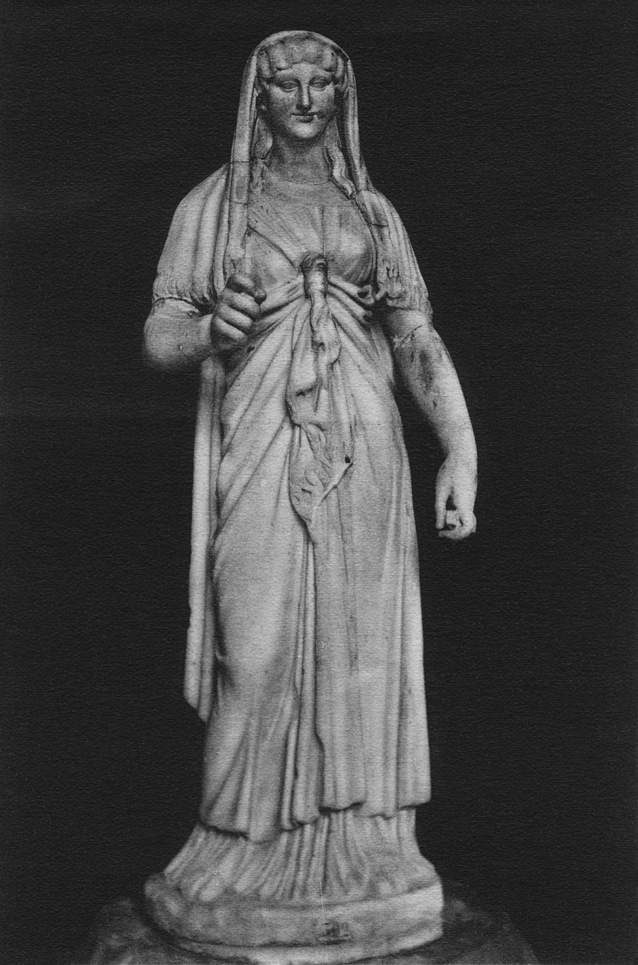 Statue of Isis. Marble. Saint Petersburg, The State Hermitage Museum
