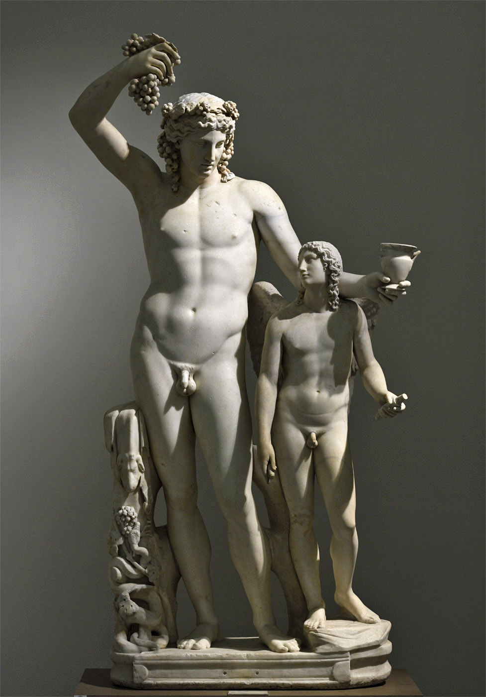 Dionysus and Eros. Marble. Roman copy of a Greek original. 2nd cent. CE. Inv. No. 6307. Naples, National Archaeological Museum