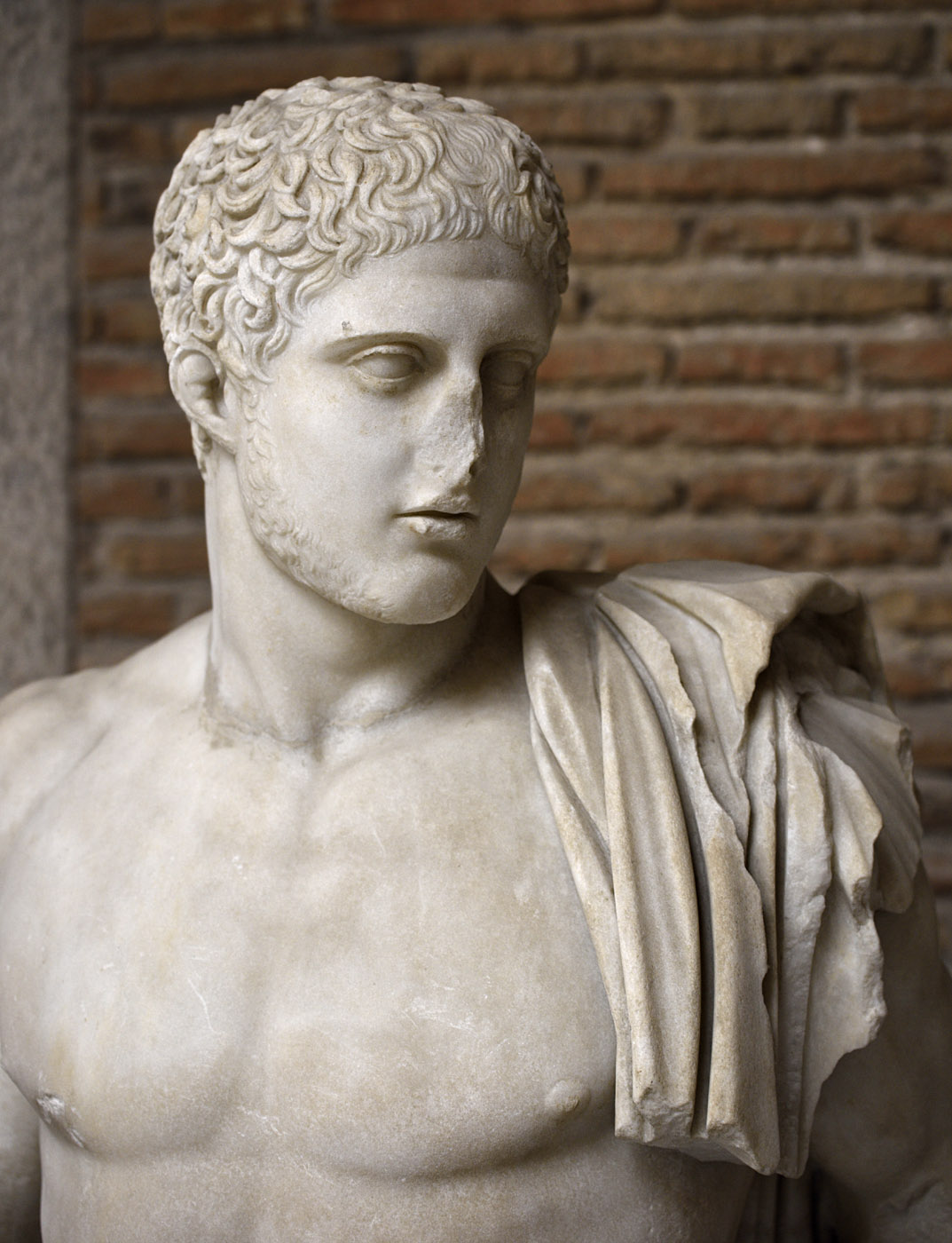 Diomedes. Marble. Roman copy after attic original of 450—430 BCE presumably by Kresilas. Inv. No. 144978. Naples, National Archaeological Museum