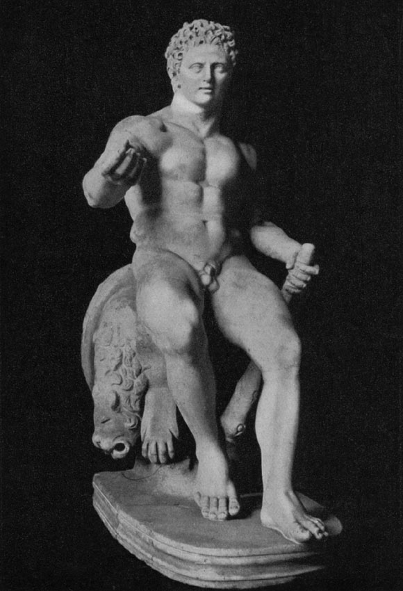 Figure of feasting Heracles. Marble. Saint Petersburg, The State Hermitage Museum