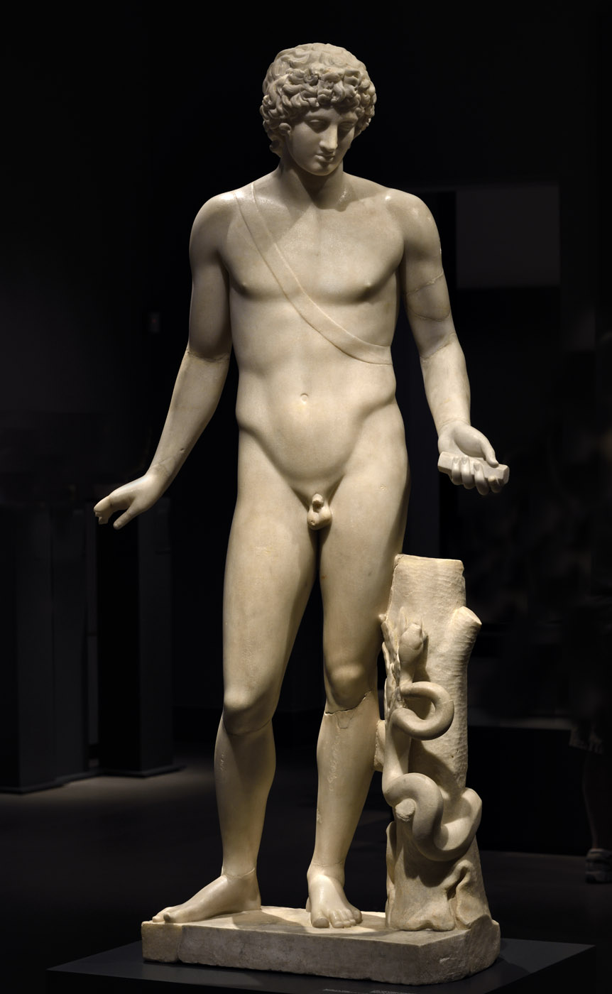 Apollo (so-called Apollo Chigi). Large-graine Greek marble. Classicising Roman reworking inspired by a Greek model of the 4th century BCE. Inv. No. 75675. Rome, Roman National Museum, Palazzo Massimo alle Terme