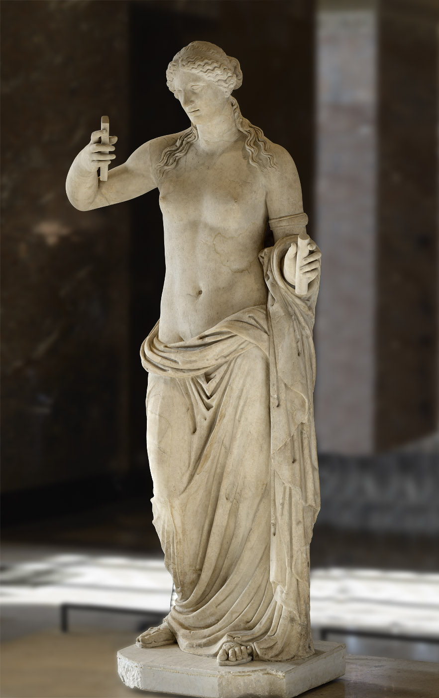 Venus of Arles. Marble from the mount Hymette. Roman work of the late 1st cent. BCE after a work by Praxiteles.  Inv. No. MR 365 / Ma 439. Paris, Louvre Museum