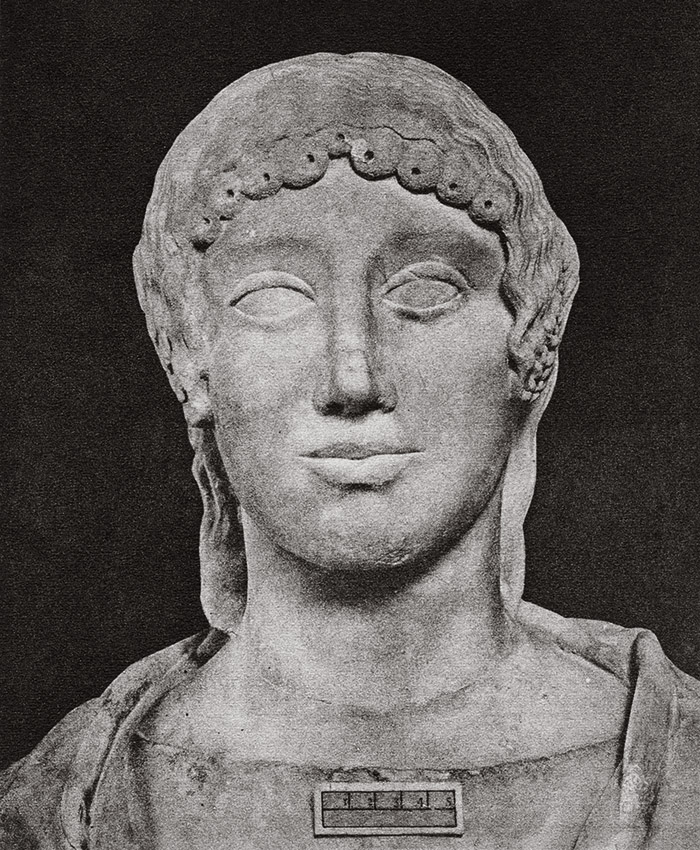 A female portrait head. Marble. Rome, Museum and Gallery of Villa Borghese
