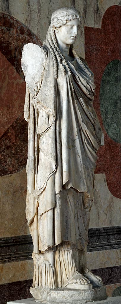 Athena Parthenos. Roman copy of Greek original derived from the work by Phidias. Marble. Inv. g 6697. Mantua, Ducal Palace