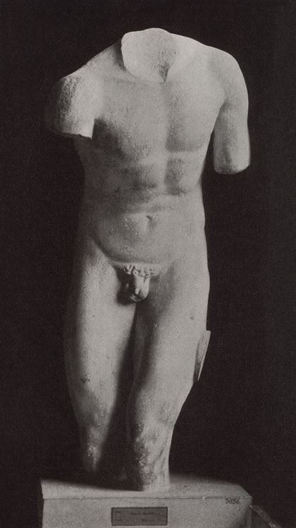 Torso of Philocthetes bitten by snake by Pythagoras? Marble. Rome, Roman National Museum, Palazzo Massimo alle Terme