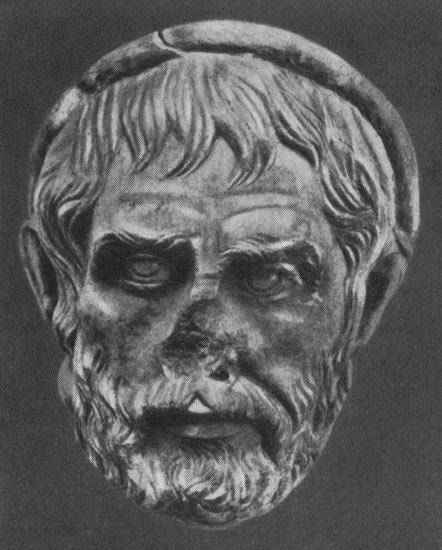 Head of a priest. Marble. The last third of the 3rd century. Eleusis, Archaeological Museum