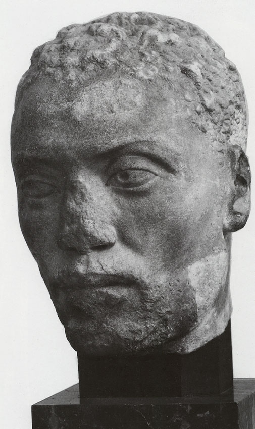 Portrait of Ethiopian (Memnon, one of the favourite pupils of Herodes Atticus). White marble. 150—160s CE. Height 27.3 cm. Berlin, State Museums, Collection of Classical Antiquities
