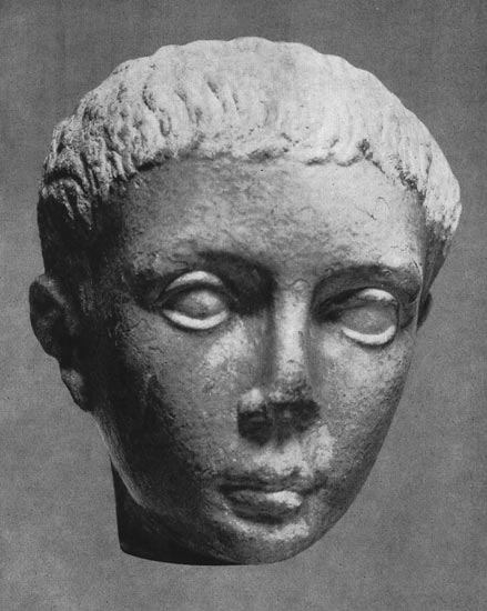 Head of a Libyan boy. Marble. Flavian time. Moscow, the Pushkin Museum of Fine Arts