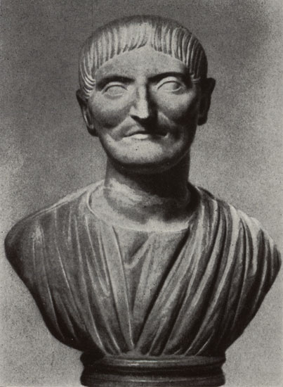 Bust of a man. Marble. Early 2nd century. Saint Petersburg, The State Hermitage Museum