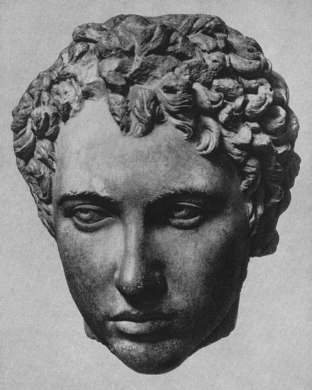 Head of a young man. Marble. Early 150s CE. Berlin, State Museums