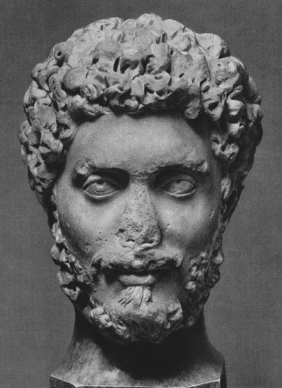 Head of a man. Marble. 160s CE. Moscow, the Pushkin Museum of Fine Arts