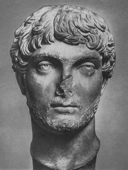 Head of a young man from Melitopolis. Marble. 260s CE. Berlin, State Museums