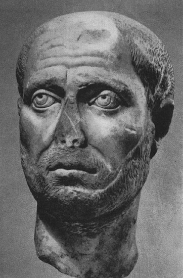 Head of a man. Marble. Border of the 3rd and 4th centuries. Zurich, Museum