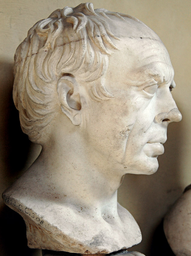Male portrait, so-called Gaius Marius. Coarse-grained white marble. The Augustan age.  Inv. No. 1488. Rome, Vatican Museums, Chiaramonti Museum, XIX. 13
