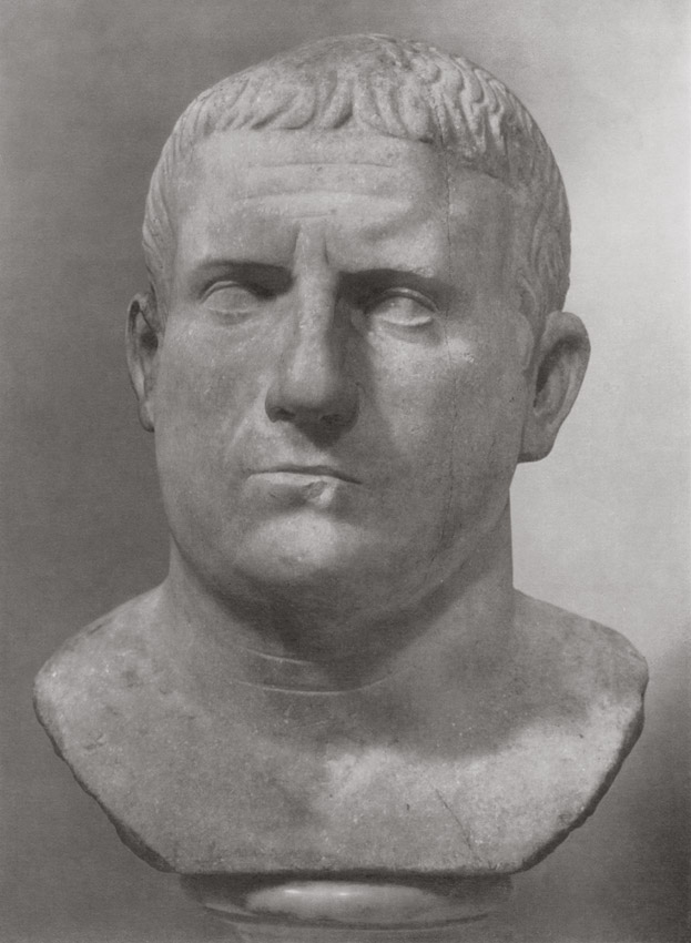 Bust of an elderly Roman. Marble. Late 1st century BCE. Total height 31 cm, height of head 19.5 cm. Inv. No. A 842. Saint Petersburg, The State Hermitage Museum