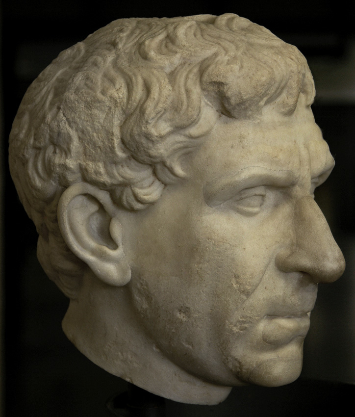Vergilius? Marble. Late 1st century BCE — early 2nd century CE. Inv. No. 10163. Rome, Vatican Museums, Gregorian Profane Museum